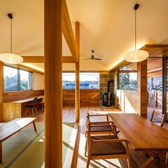設計事務所/設計/家/注文住宅/家づくり/住宅/... 畳の上の座卓と合わせて大人数の会食も対応…