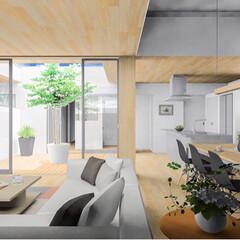 パース/リビング/設計事務所/設計/設計士/注文住宅/... 今日上棟を迎える絶賛工事中の兵庫県姫路市…