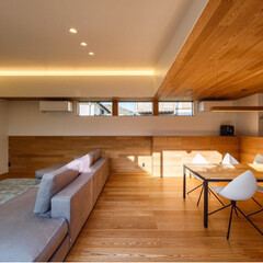 architect/interior/HOUSE/livingroom/diningroom/建築/... ■haus-flow■ 右からキッチンの…