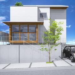 神戸/外観デザイン/外観/パース/マイホーム計画/マイホーム/... 奈良県某計画 没案のCG。 設計の打ち合…