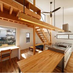 トーヨーキッチン/kitchen/Dining/建築家/建築家と建てる家/注文住宅/... 屋上バルコニーとつながって開放的なダイニ…
