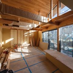 マイホーム記録/マイホーム計画/家づくり/工事中/一戸建て住宅/一戸建て/... 2日前の現場状況。 仕上げ作業に入り、造…