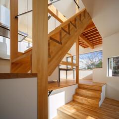 デザイン/設計事務所/設計/新築一戸建て/新築住宅/新築/... フロアのど真ん中にある各階段♪ ■hau…