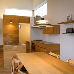 家/家づくり/設計事務所/設計/中庭/バルコニー/... 2階ダイニングキッチンとパントリー…