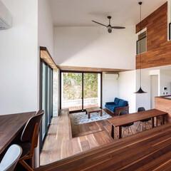 階段/ダイニング/リビング/Living/livingroom/一戸建て/... 2階への動線を兼ねた2ndリビングから♪…