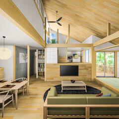 マイホーム計画/キッチン/設計/リビング/ダイニング/インテリア/... 三重県某リフォーム計画 の初案CG。 初…