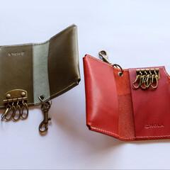 キーケース/ハンドメイド/レザークラフト/レザー/革小物/革製品 革小物職人holaさんのキーケースをha…(2枚目)