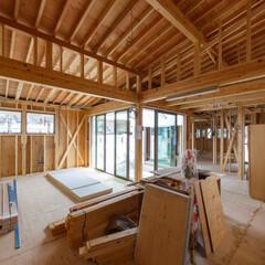 木造/工事中/設計/一戸建て/一戸建て住宅/新築/... 昨日の現場状況。 断熱材が吹かれる前にコ…