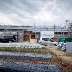 工事中/外観/設計/マイホーム計画/新築一戸建て/住まい/... 昨日の現場状況♪  □haus-plum…