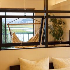 リノベーション/リフォーム/寝室/リビング/設計事務所/設計/... 寝室ー多目的スペースは室内窓を設置して明…