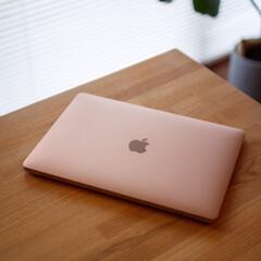 Apple/お出かけ/おでかけ/macbook air/Macbook/Mac/... 初Mac〜♪ つい触りたくなるフォルムと…