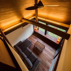 住宅/設計事務所/設計/インテリア/家づくり/吹抜け/... リビングを2階の個室から♪ ■haus-…