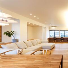 リビング/家づくり/設計/デザイン/設計事務所/ダイニング/... ■re.haus-tn■ ソファ前の壁掛…