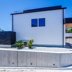 エクステリア/デッキテラス/ウッドデッキ/玄関ドア/玄関/外観デザイン/... 外観とデッキテラス♪ : ■haus-…(2枚目)