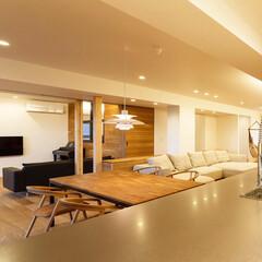 ウッドワン/ダイニング/キッチン/リノベーション/設計/設計事務所/... 既存コンクリート床を傷付けず排水管の勾配…