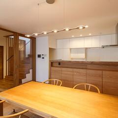 デザイン/設計/住宅/一戸建て住宅/一戸建て/キッチン/... ペンダントライトはイタリアからLUMEN…