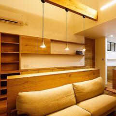 ペンダントライト/リビング/設計/一戸建て/インテリア/interior/... カフェスペースにある3色のペンダント♪ …(2枚目)
