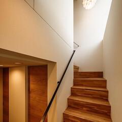 北欧雑貨/北欧インテリア/北欧/ペンダントライト/照明/階段/... 地下階の玄関から1階に上がる階段照明はノ…