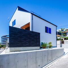 エクステリア/デッキテラス/ウッドデッキ/玄関ドア/玄関/外観デザイン/... 外観とデッキテラス♪ : ■haus-…(3枚目)