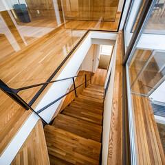 設計/不動産・住宅/デザイン/ガラス/手すり/階段/... ■haus-wrap■ 透明強化ガラスの…