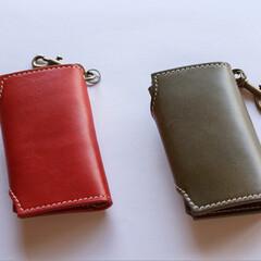 キーケース/ハンドメイド/レザークラフト/レザー/革小物/革製品 革小物職人holaさんのキーケースをha…(3枚目)