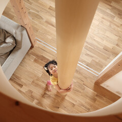 滑り棒/ロフト 直方の家:2階LDKロフトに滑り棒を取付…