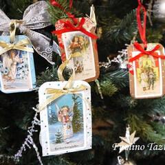 クリスマス/タグ/オーナメント/トランプ/カード トランプを使ってクリスマスタグを作りまし…