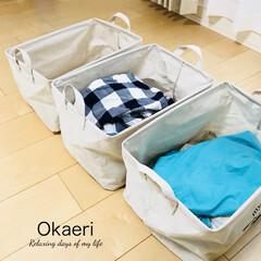 洗濯物たたみ/ストレージボックス/洗濯物/お手伝い/100均/ダイソー/... 【お手伝い】 子ども達が洗濯物を たたむ…
