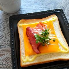 魚焼きグリル/おうちごはん/調理/トースト/朝パン/朝ごはん 魚焼きグリルでトースト🍞 昨日よりうまく…