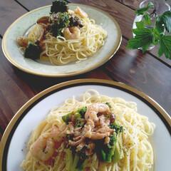 パスタランチ/パスタ/スバゲッティ/料理/おうちごはん/ランチ 昨日のお昼はパスタでした。  1人前は1…