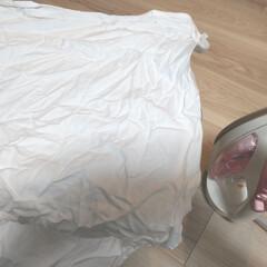 アイロンがけ/アイロン/洗濯乾燥/シーツ/暮らし 洗濯乾燥機を買いました。 シーツを洗って…