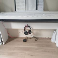 コンセント周り/コンセント/おうちの美化委員/掃除/電子ピアノ/ピアノ/... 電子ピアノの足元のごちゃごちゃが気になり…