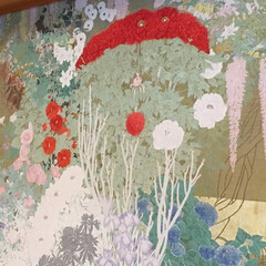 綴織/京都/迎賓館 京都迎賓館の綴織の刺繍😊