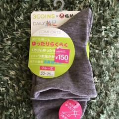 福助/ゆるい靴下🧦/靴下 3COINSで150円になっていた福助の…
