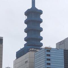 街中/工事現場/五重塔 ちょっと話題になっているにわかに出没?し…