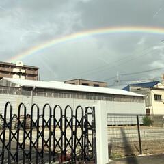 台風/雨間/虹 今日車🚗に乗っていたらとてもはっきりとし…
