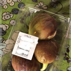 初物/果樹/いちじく いちじく好きの私の初物です😊 毎年結構食…(1枚目)