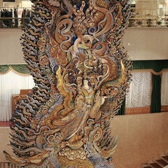 オブジェ/彫刻/天女像/仏像 日本橋三越の天女像?です🙏 凄いです😊 …