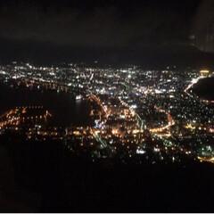 栗🌰/夜景/北海道/おでかけ/風景/旅行 函館の夜景綺麗でした🌃 北広島のホテルか…