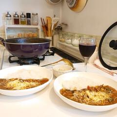 WECK チューリップ シェイプ 370ml WE-746 WE-746 ウェック | ウェック(ガラス瓶、キャニスター)を使ったクチコミ「昨日の夕飯はひき肉と夏野菜のカレーです❗…」