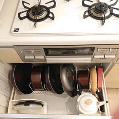 整理整頓/収納見直し/キッチン/コンロ下の収納/わたしのGW GW中お家の中の収納を見直しました👍 コ…