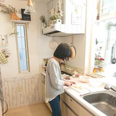 娘の手料理/リミアな暮らし/DIY/キッチン 小5娘ちゃんに夕飯を教えてます👍️ 今日…