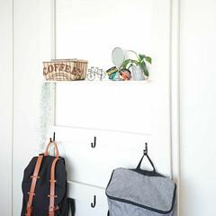 リュック/ガストンルーガ/ディアウォール/ダイソー/100均/DIY 大学1年息子君の部屋に作ったカバン掛けを…