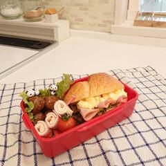 ミートボール/サンドイッチ/リミアな暮らし/お弁当のおかず&便利グッズ 久しぶりに作ったお弁当です♪ 小5娘ちゃ…