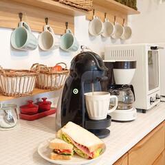 朝ごはん/タマゴサンド/DIY/キッチン/100均/わたしのごはん 今朝はタマゴサンド作りました🎶 土曜日は…