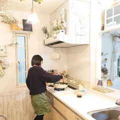 リミアな暮らし/娘の手料理/DIY/キッチン 昨日小5娘ちゃんに焼きそばの作り方を教え…