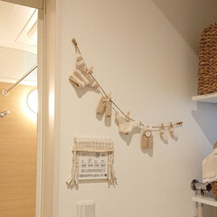ガーランド/お風呂場/ハンドメイド/DIY ナチュラルファミリー♪洗濯物ガーランドを…
