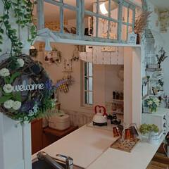 ラブリコDIY/フェイク/ハンドメイド/キッチン/雑貨/DIY/... キッチンカウンターにラブリコを使って作り…