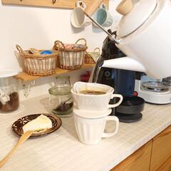 Nestle/ネスレ MD9744-PB ネスカフェ ドルチェグスト Piccolo プレミアム | ネスカフェ ドルチェ グスト(コーヒーメーカー)を使ったクチコミ「昨日大2息子君が、スーパーでレアチーズケ…」