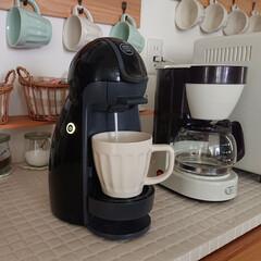 Nestle/ネスレ MD9744-PB ネスカフェ ドルチェグスト Piccolo プレミアム | ネスカフェ ドルチェ グスト(コーヒーメーカー)を使ったクチコミ「午前中は買い物して、夕飯の支度終わったの…」